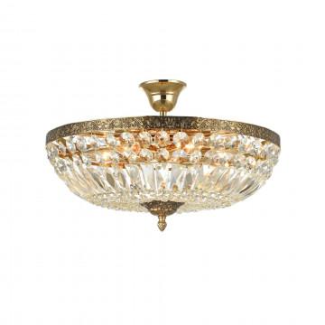Потолочная люстра Maytoni Tiara DIA500-CL-40-06-G (b500-pt40-g), 6xE14x60W, черненое золото, прозрачный, металл, хрусталь