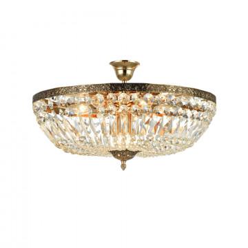 Потолочная люстра Maytoni Tiara DIA500-CL-50-06-G (b500-pt50-g), 9xE14x60W, черненое золото, прозрачный, металл, хрусталь