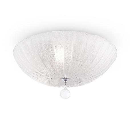 Потолочный светильник Maytoni Sienna C216-CL-03-N (CL216-03-N), 3xE27x60W, хром, белый, прозрачный, металл, стекло