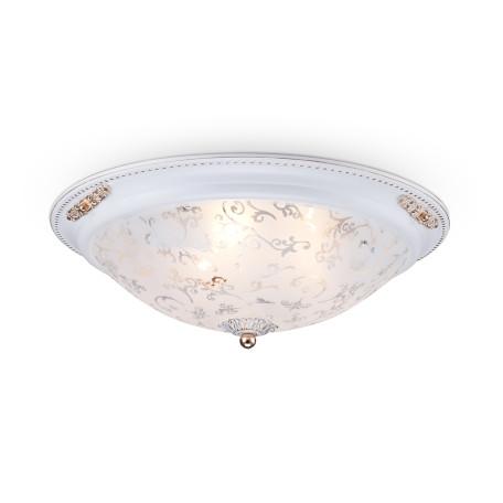 Потолочный светильник Maytoni Diametrik C907-CL-03-W (CL907-03-W), 3xE27x40W, белый с золотом, белый, металл, стекло