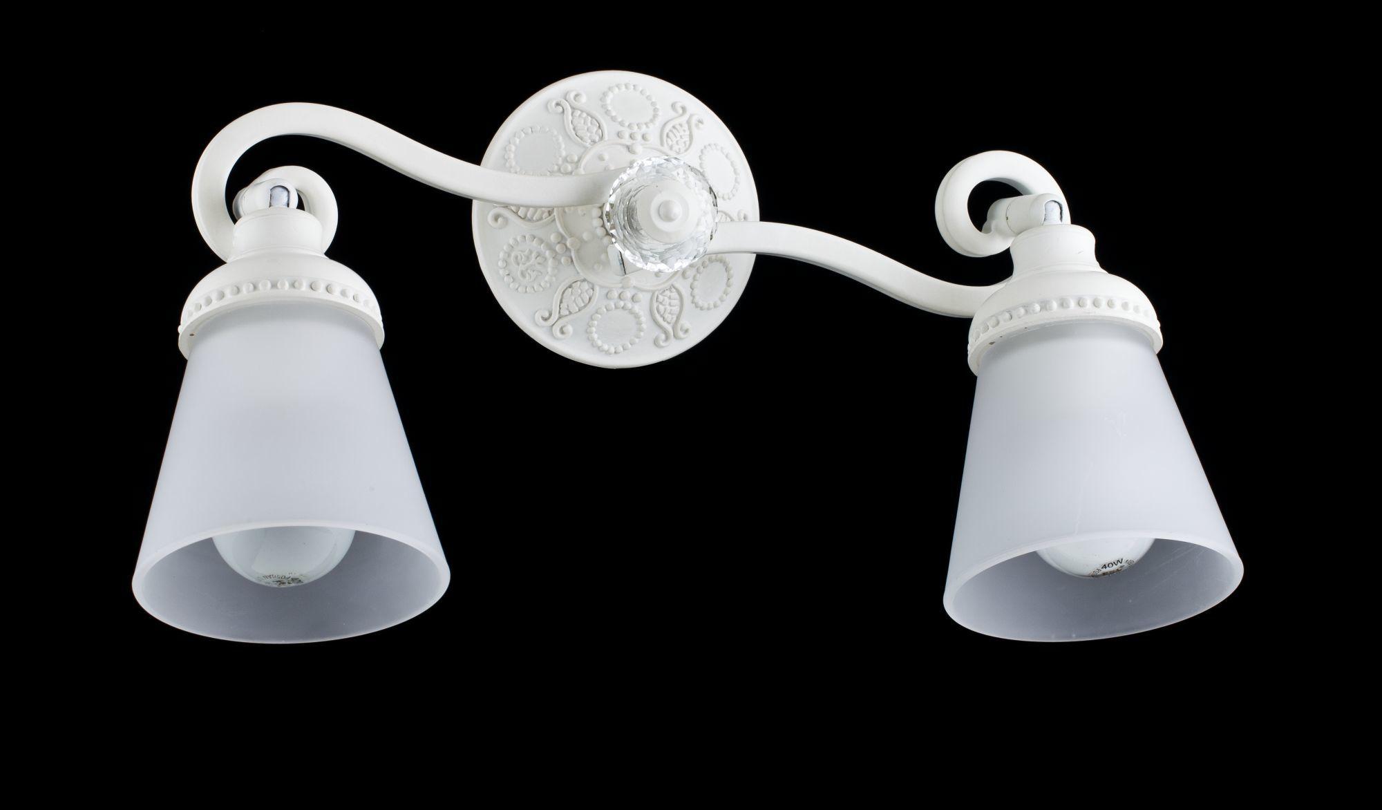 Потолочный светильник с регулировкой направления света Maytoni Classic Mia SP564-CW-02-W (ECO564-02-W), 2xE14x40W, белый, металл, стекло - фото 1