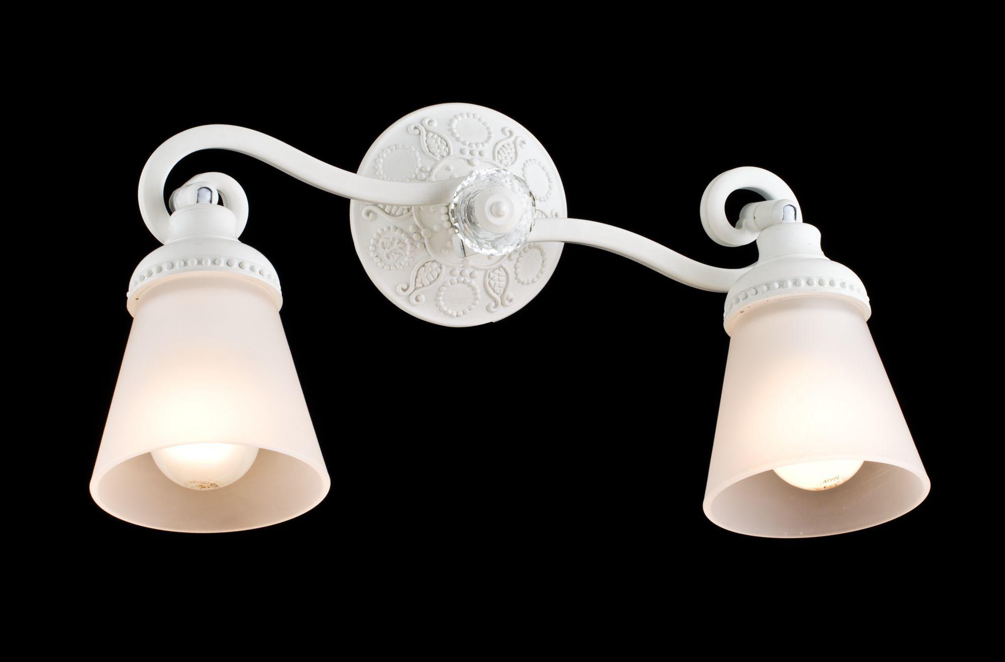 Потолочный светильник с регулировкой направления света Maytoni Classic Mia SP564-CW-02-W (ECO564-02-W), 2xE14x40W, белый, металл, стекло - фото 3