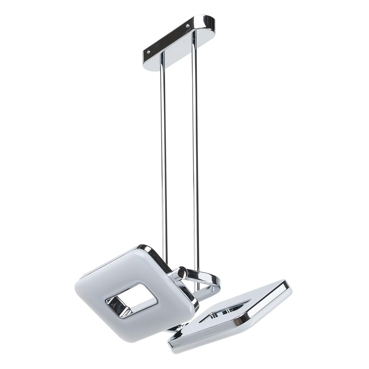 Потолочный светильник с регулировкой направления света на составной штанге De Markt Платлинг 661011102, хром, белый, металл, пластик - фото 1