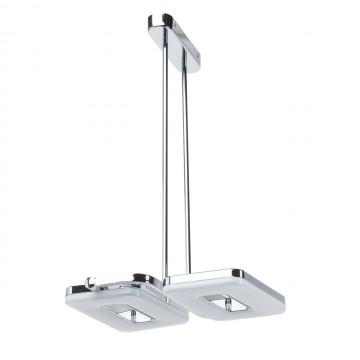 Потолочный светильник с регулировкой направления света на составной штанге De Markt Платлинг 661011102, хром, белый, металл, пластик - миниатюра 2