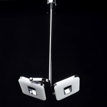Потолочный светильник с регулировкой направления света на составной штанге De Markt Платлинг 661011102, хром, белый, металл, пластик - миниатюра 3