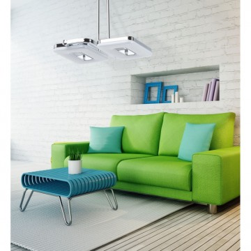 Потолочный светильник с регулировкой направления света на составной штанге De Markt Платлинг 661011102, хром, белый, металл, пластик - миниатюра 4