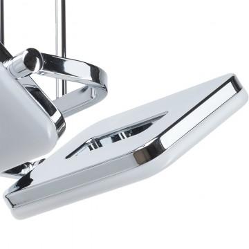 Потолочный светильник с регулировкой направления света на составной штанге De Markt Платлинг 661011102, хром, белый, металл, пластик - миниатюра 5
