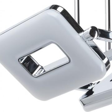 Потолочный светильник с регулировкой направления света на составной штанге De Markt Платлинг 661011102, хром, белый, металл, пластик - миниатюра 6