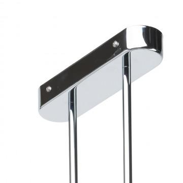 Потолочный светильник с регулировкой направления света на составной штанге De Markt Платлинг 661011102, хром, белый, металл, пластик - миниатюра 7