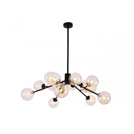 Потолочная люстра Kink Light Кливия 07644, 15xG9x5W, черный, прозрачный, металл, стекло