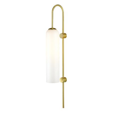 Бра Odeon Light Pendant Vosti 4642/1W, 1xE27x60W, золото, белый, металл, стекло
