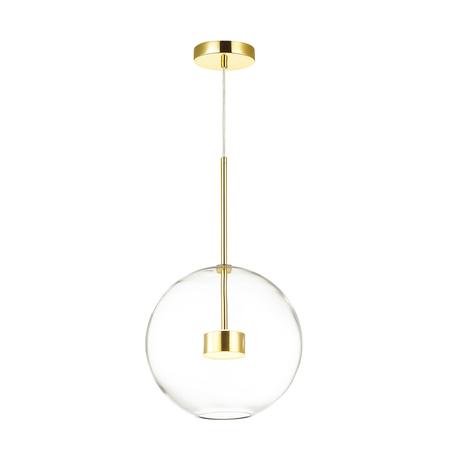Подвесной светодиодный светильник Odeon Light L-Vision Bubbles 4640/12L, LED 12W 4000K 130lm, золото, прозрачный, металл, стекло