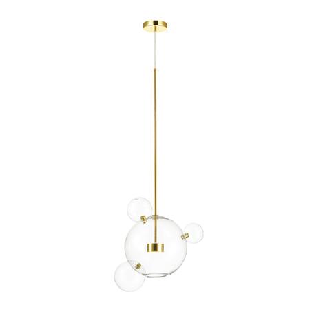 Подвесной светодиодный светильник Odeon Light Bubbles 4640/12LA, LED 12W 4000K 130lm, золото, прозрачный, металл, стекло