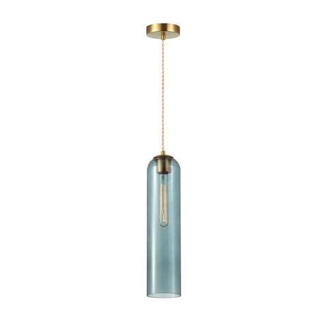 Подвесной светильник Odeon Light Pendant Vosti 4641/1, 1xE27x60W, золото, синий, металл, стекло