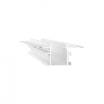 Профиль для светодиодной ленты с рассеивателем Ideal Lux SLOT RECESSED TRIMLESS 14 x 2000 mm WH 223704 (SLOT RECESSED TRIMLESS 14x2000mm WHITE), белый, металл, пластик