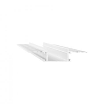 Профиль для светодиодной ленты с рассеивателем Ideal Lux SLOT RECESSED TRIMLESS 20 x 2000 mm WH 223728 (SLOT RECESSED TRIMLESS 20 x2000mm WHITE), белый, металл, пластик