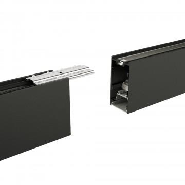 Прямой соединитель для модульной системы Ideal Lux DRAFT STRUCTURE CONNECTOR 222813, черный, металл