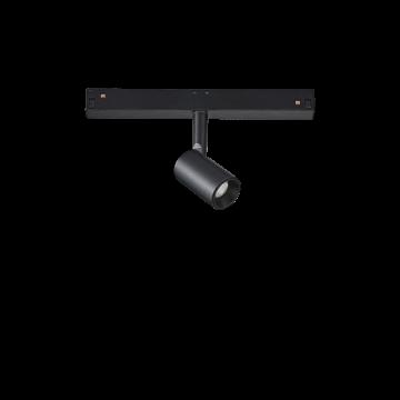 Светодиодный светильник для магнитной системы Ideal Lux OXY TRACK SINGLE 3.5W 3000K 224107, LED 3,5W 3000K (теплый), черный, металл