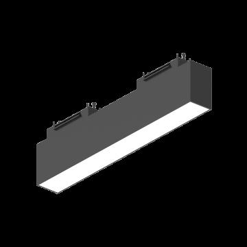 Светодиодный светильник для магнитной системы Ideal Lux ARCA WIDE 30 CM 3000K 222943, LED 13W 3000K (теплый), черный, металл, пластик