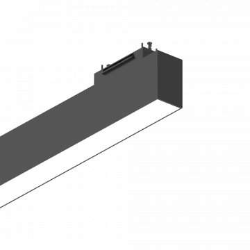 Светодиодный светильник для магнитной системы Ideal Lux ARCA WIDE 60 CM 3000K 222950, LED 26W 3000K (теплый), черный, металл, пластик