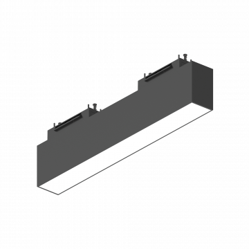 Светодиодный светильник для магнитной системы Ideal Lux ARCA WIDE 30 CM 4000K 223025, LED 13W 4000K (дневной), черный, металл, пластик