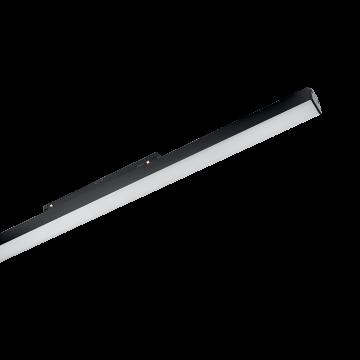 Светодиодный светильник для магнитной системы Ideal Lux OXY WIDE 565mm 3000K 224053, LED 13W 3000K (теплый), черный, металл, пластик