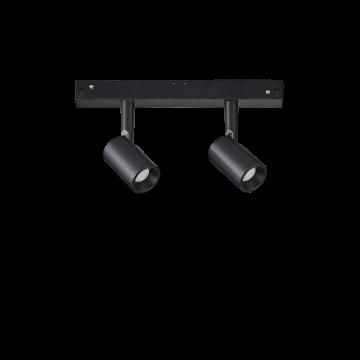 Светодиодный светильник для магнитной системы Ideal Lux OXY TRACK DOUBLE 5W 3000K 224114, LED 5W 3000K (теплый), черный, металл