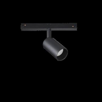 Светодиодный светильник для магнитной системы Ideal Lux OXY TRACK SINGLE 8W 3000K 224138, LED 8W 3000K (теплый), черный, металл
