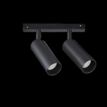 Светодиодный светильник для магнитной системы Ideal Lux OXY TRACK DOUBLE 22W 3000K 224176, LED 22W 3000K (теплый), черный, металл