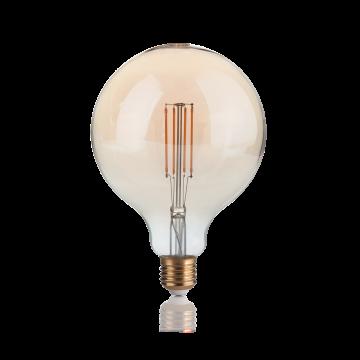 Светодиодная лампа Ideal Lux E27 VINTAGE 04W GLOBO D125 AMBRA 2200K DIMM 223926 (VINTAGE E27 4W GLOBO BIG 2200K DIMMER) шар E27 4W (теплый), диммируемая