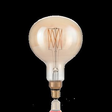 Светодиодная лампа Ideal Lux E27 VINTAGE XL 04W GLOBO D095 AMBRA 2200K DIMM 223940 (VINTAGE XL E27 4W GLOBO SMALL 2200K DIM) шар малый E27 4W (теплый), диммируемая