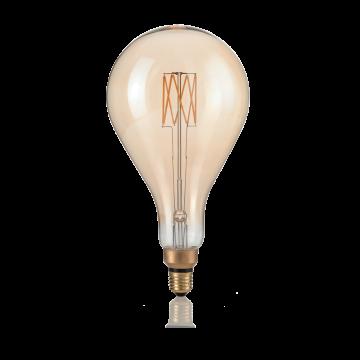 Светодиодная лампа Ideal Lux E27 VINTAGE XL 08W GOCCIA AMBRA 2200K DIMM 223964 (VINTAGE XL E27 8W GOCCIA 2200K DIMMER) капля E27 8W (теплый), диммируемая