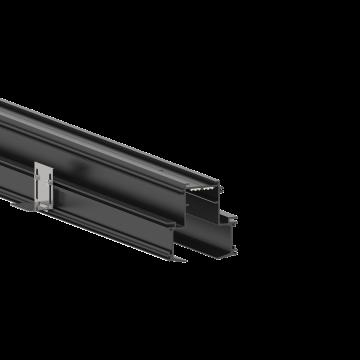 Встраиваемый магнитный шинопровод Ideal Lux ARCA PROFILE 3000 mm RECESSED 222882, черный, металл