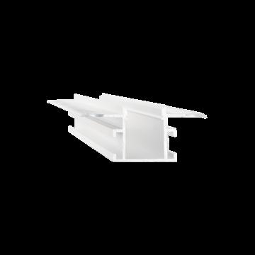 Встраиваемый профиль для светодиодной ленты с рассеивателем Ideal Lux SLOT RECESSED TRIMLESS 14 x 2000 mm WH 223704 (SLOT RECESSED TRIMLESS 14x2000mm WHITE), белый, металл, пластик