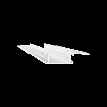 Встраиваемый профиль для светодиодной ленты с рассеивателем Ideal Lux SLOT RECESSED TRIMLESS 20 x 2000 mm WH 223728 (SLOT RECESSED TRIMLESS 20 x2000mm WHITE), белый, металл, пластик