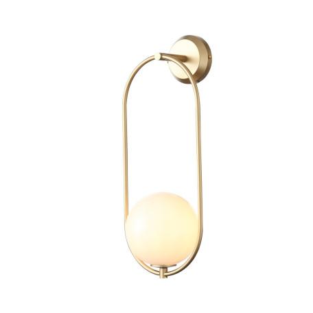 Настенный светильник ST Luce Penolo SL1118.201.01, 1xE14x40W, матовое золото, белый, металл, стекло