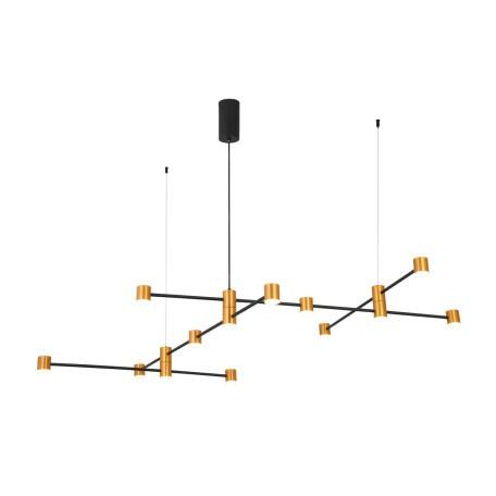 Подвесная светодиодная люстра ST Luce Anichita SL1596.423.22, LED 66W 3000K 5148lm, черный, матовое золото, металл