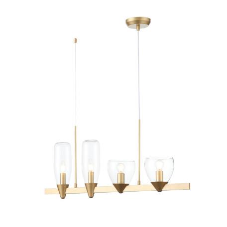 Подвесной светильник ST Luce Teneresa SL1119.203.04, 4xE14x40W, матовое золото, прозрачный, металл, стекло