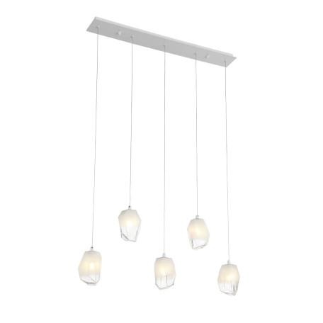 Подвесной светильник ST Luce Pureza SL1153.513.05, 5xG9x3W, белый, металл, стекло
