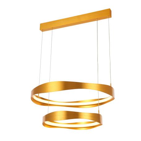Подвесной светодиодный светильник ST Luce Elazzo SL1594.203.02, LED 84W 3000K 6384lm, матовое золото, металл