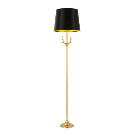 Торшер ST Luce Velossa SL1123.205.01, 1xE14x40W, золото, черный, металл, текстиль
