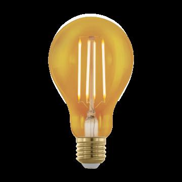 Филаментная светодиодная лампа Eglo 11691 груша E27 4W, 1700K (теплый) CRI>80, диммируемая, гарантия 5 лет