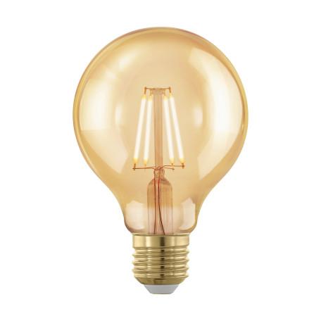 Филаментная светодиодная лампа Eglo 11692 шар малый E27 4W, 1700K (теплый) CRI>80, гарантия 5 лет