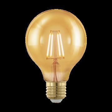 Филаментная светодиодная лампа Eglo 11692 шар E27 4W, 1700K (теплый) CRI>80, диммируемая, гарантия 5 лет