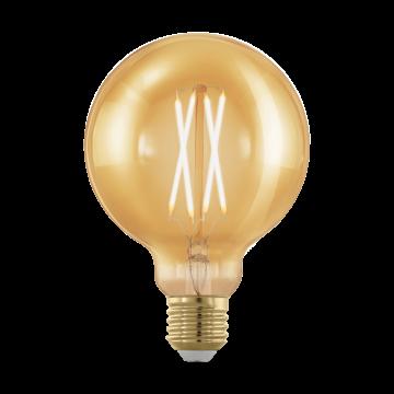 Филаментная светодиодная лампа Eglo 11693 шар E27 4W, 1700K (теплый) CRI>80, диммируемая, гарантия 5 лет