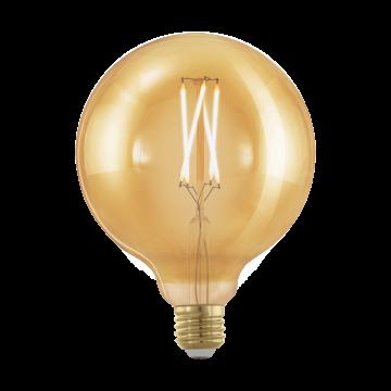 Филаментная светодиодная лампа Eglo 11694 шар E27 4W, 1700K (теплый) CRI>80, диммируемая, гарантия 5 лет