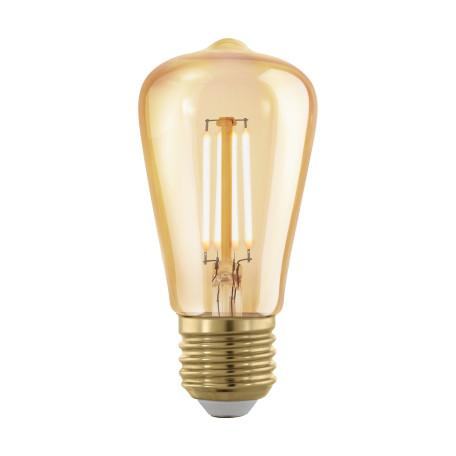Филаментная светодиодная лампа Eglo 11695 прямосторонняя груша E27 4W, 1700K (теплый) CRI>80, гарантия 5 лет