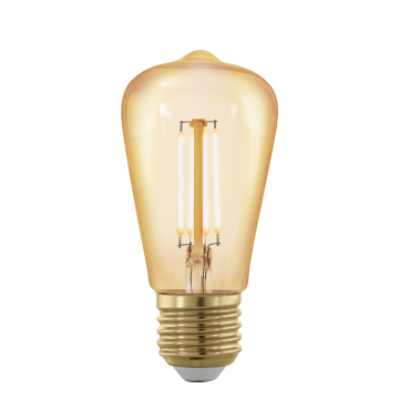 Филаментная светодиодная лампа Eglo 11695 прямосторонняя груша E27 4W, 1700K (теплый), диммируемая, гарантия 5 лет