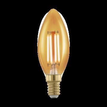 Филаментная светодиодная лампа Eglo 11698 свеча E14 4W, 1700K (теплый), диммируемая, гарантия 5 лет