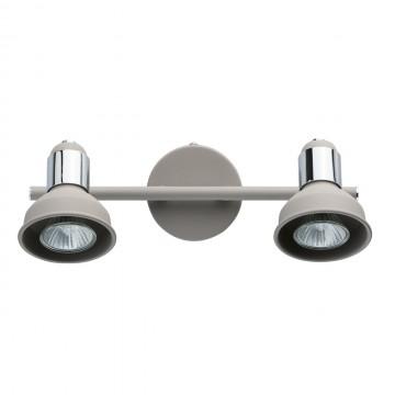 Потолочный светильник с регулировкой направления света De Markt Хоф 552020502, 2xGU10x50W, серый, хром, металл